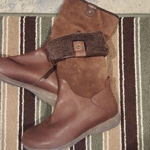 Easy spirit boots suede and leather